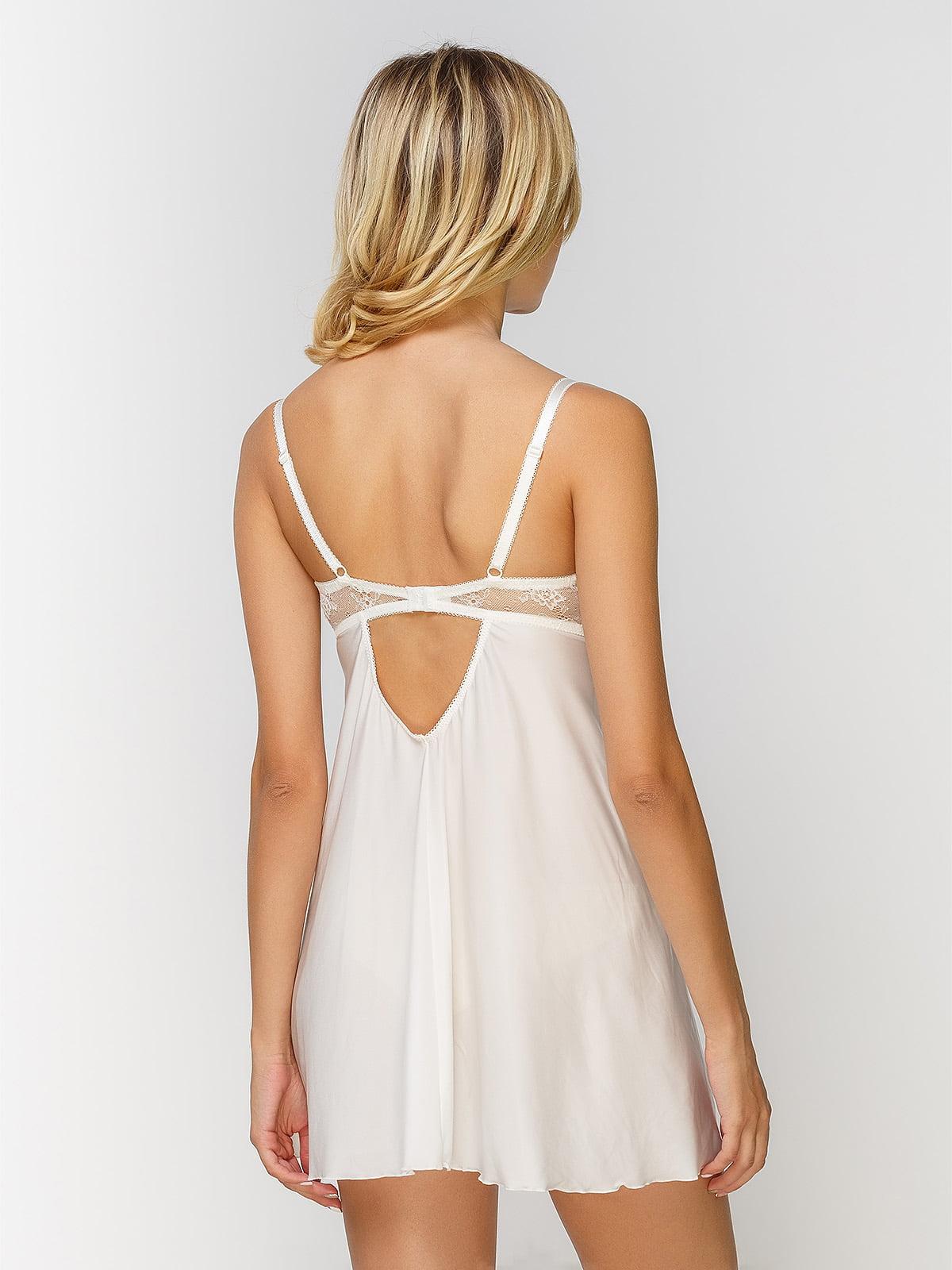 Рубашка ночная молочного цвета | 4610124 | фото 2