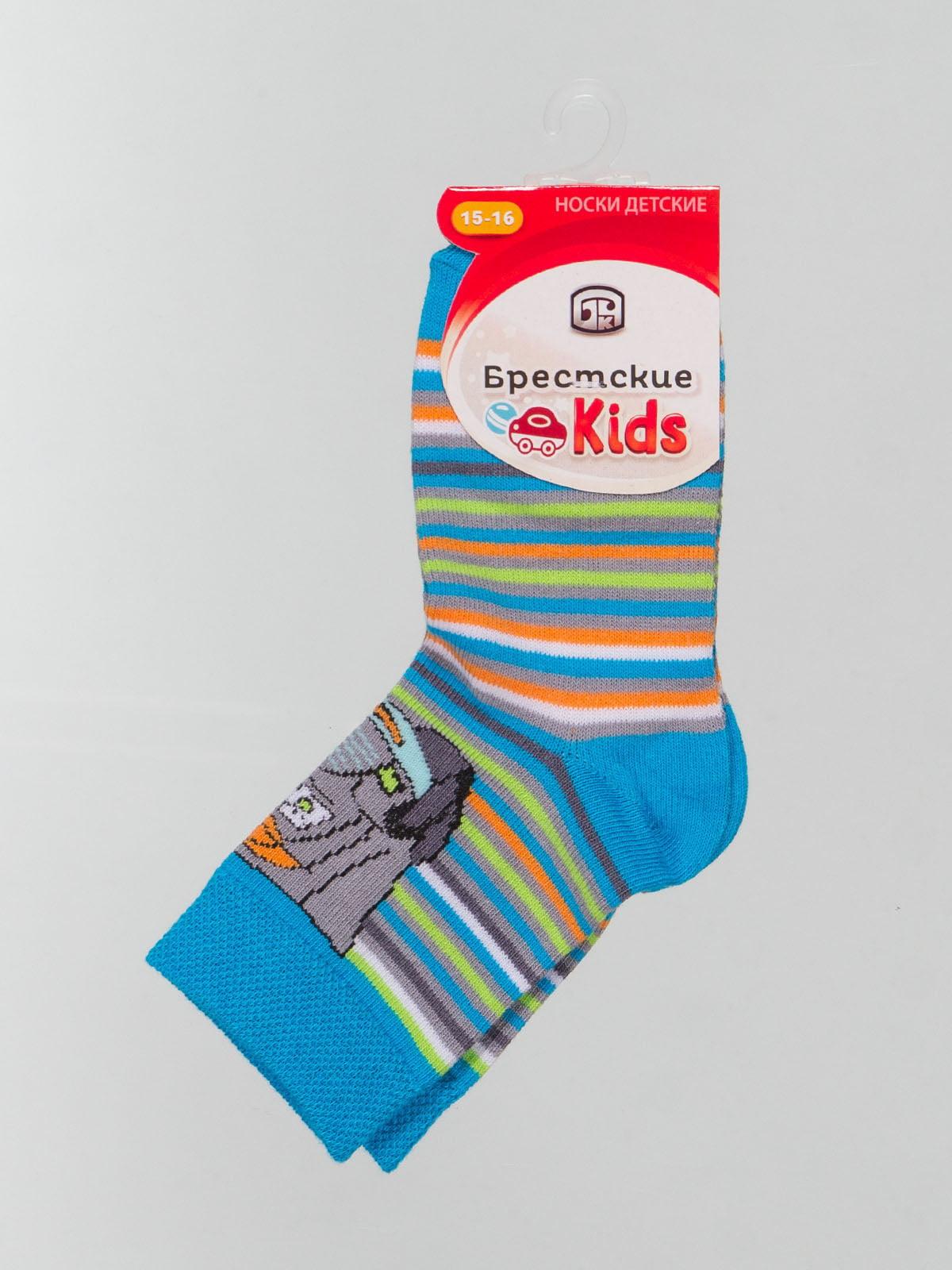Шкарпетки в смужку з малюнком | 4604379