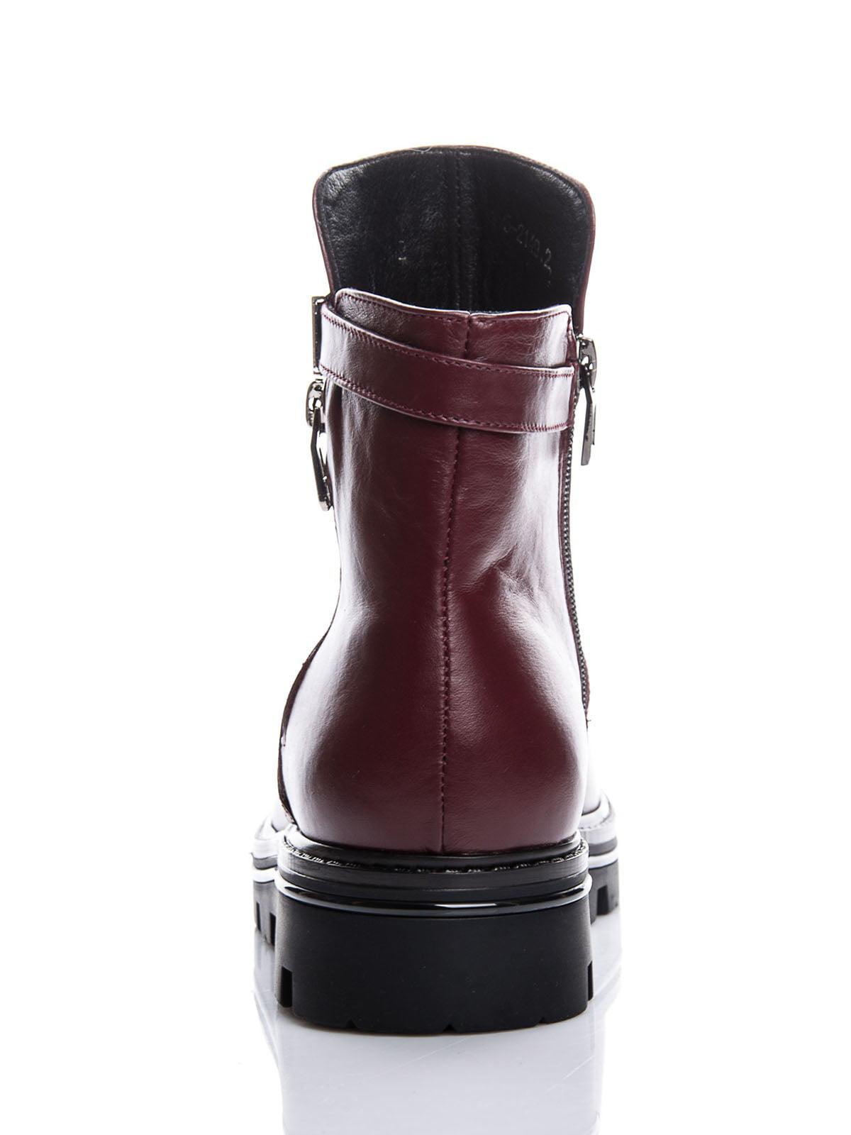 Ботинки бордовые | 4625277 | фото 5