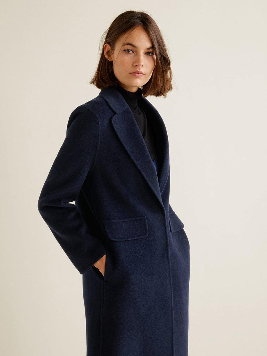 Пальто синее | 4489369 | фото 7