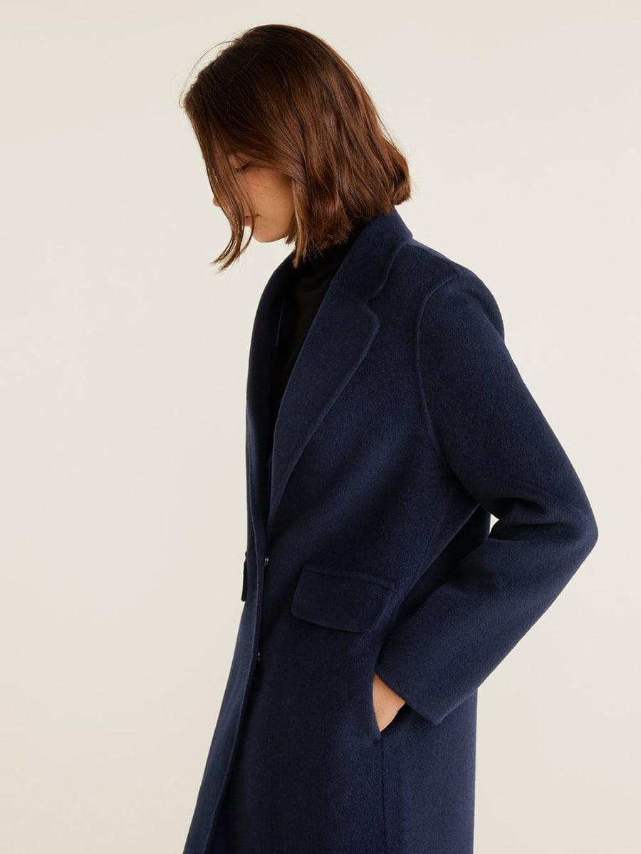 Пальто синее | 4489369 | фото 9