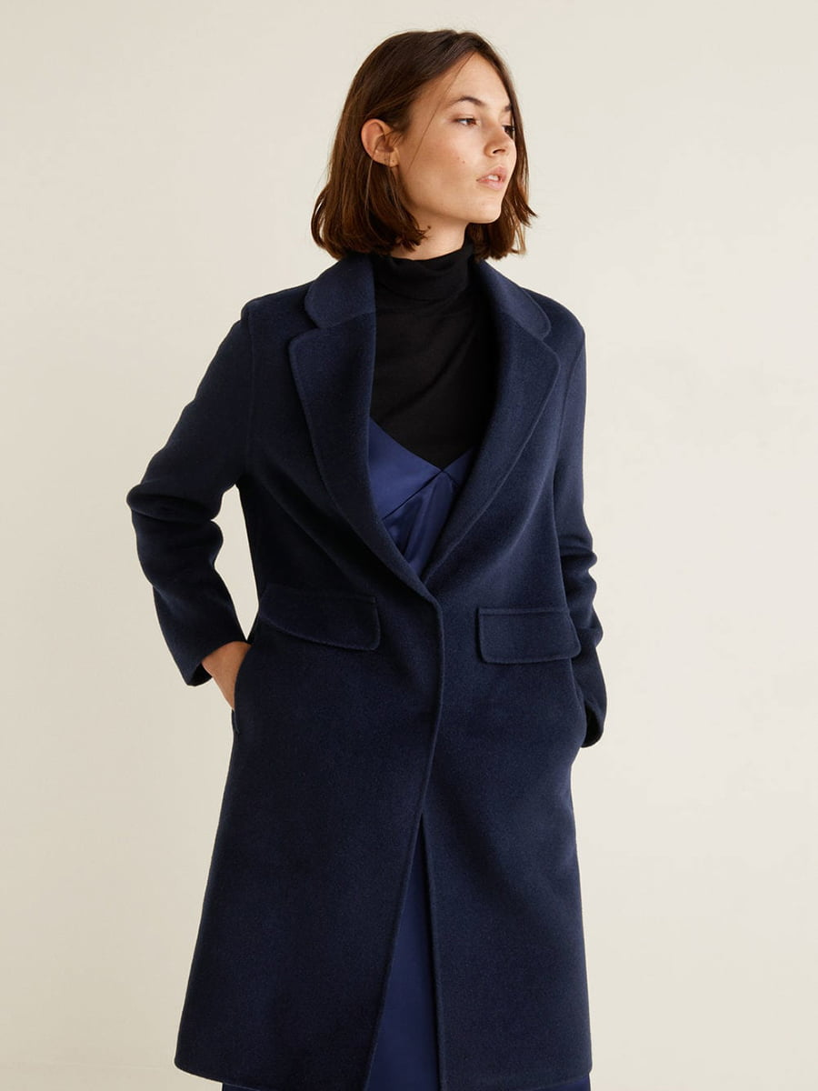 Пальто синее | 4489369 | фото 10