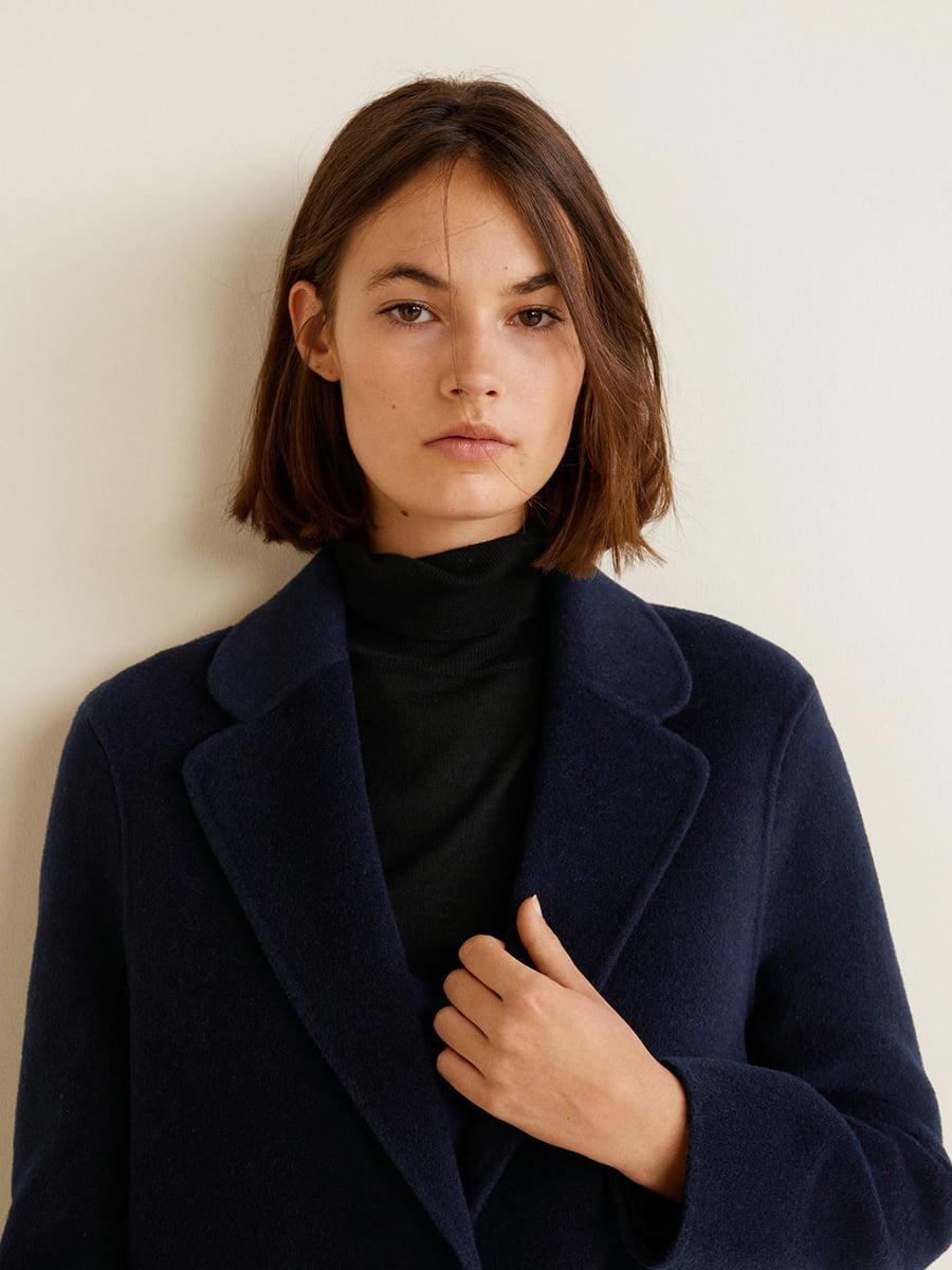 Пальто синее | 4489369 | фото 11