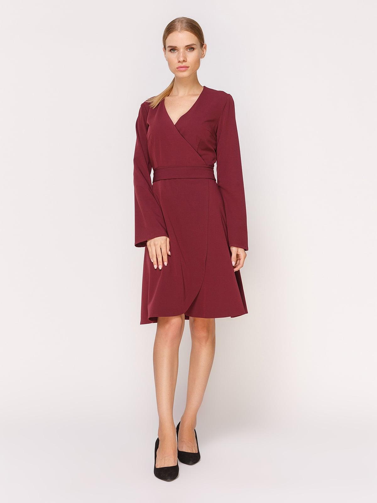 Платье цвета марсала   4631552