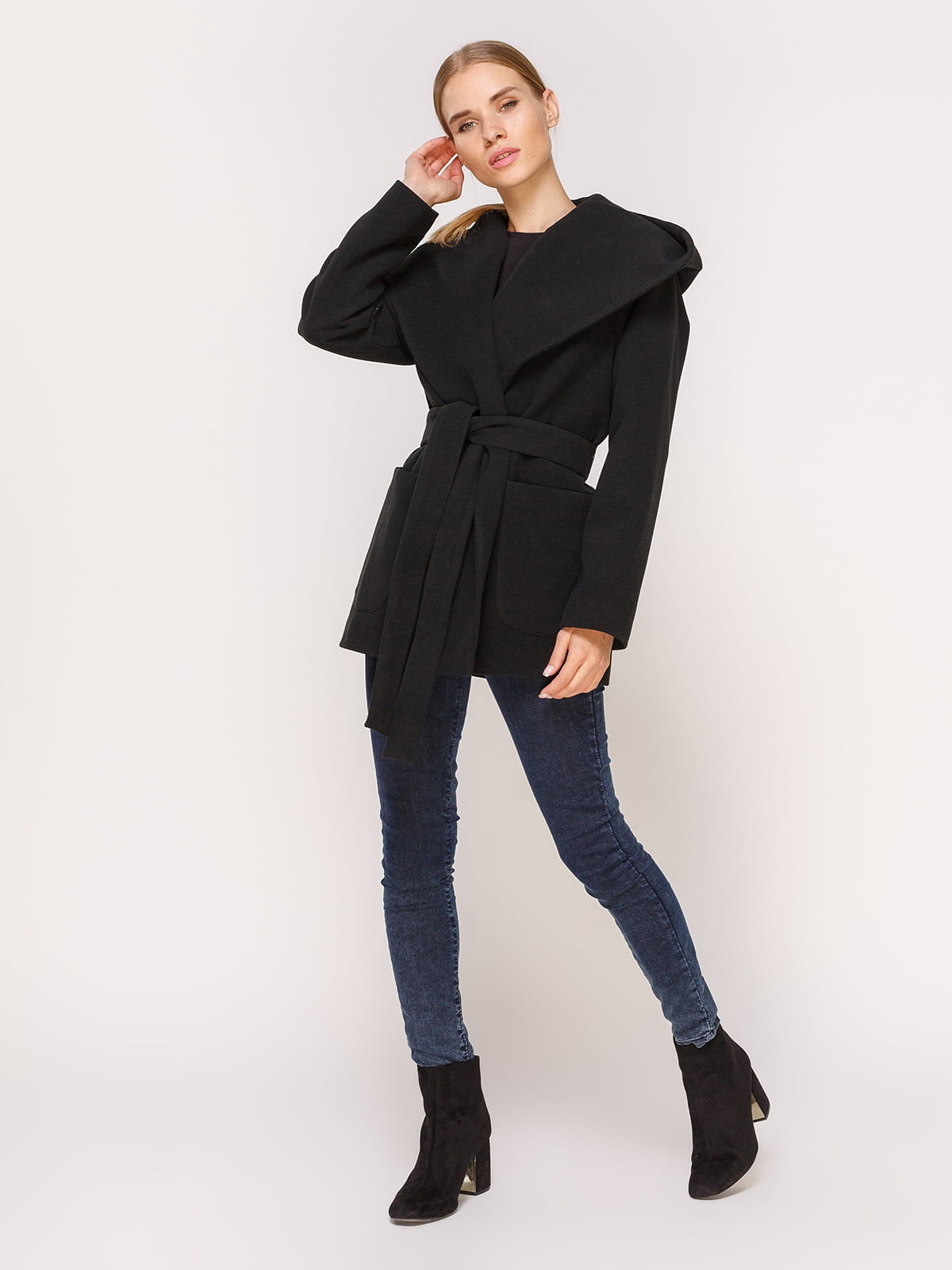 Пальто черное | 4631557 | фото 2