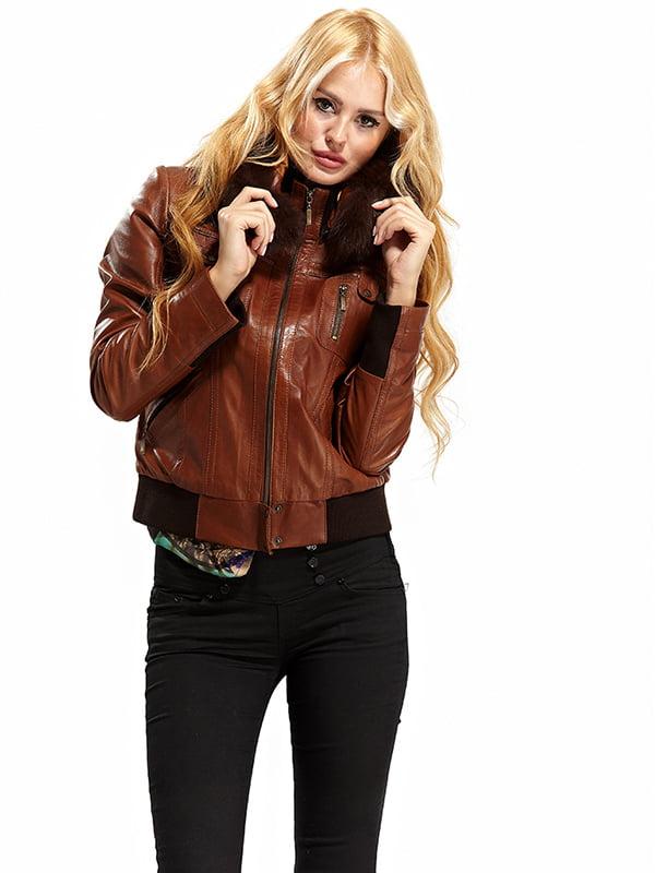 Куртка коричневая   4604542   фото 2