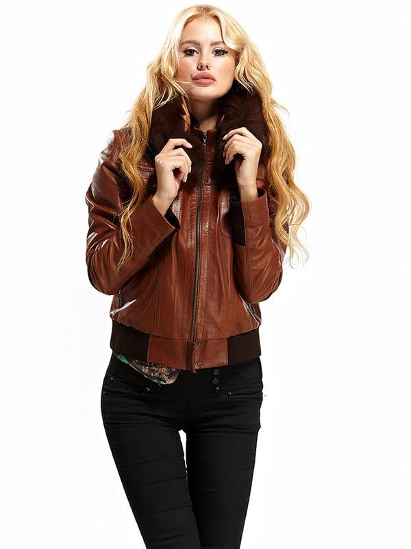 Куртка коричневая   4604542   фото 3