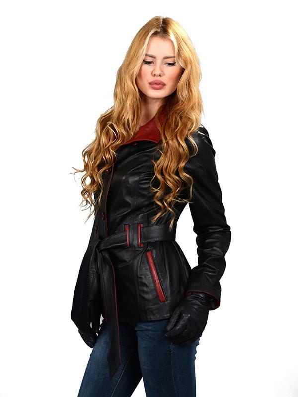 Куртка черная с красной отделкой | 4633244