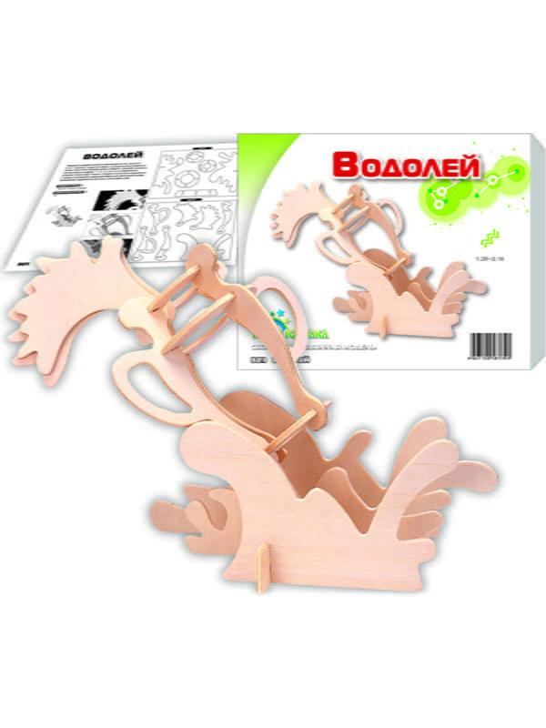 Сборная модель из дерева, 3D пазл «Водолей» | 4635096