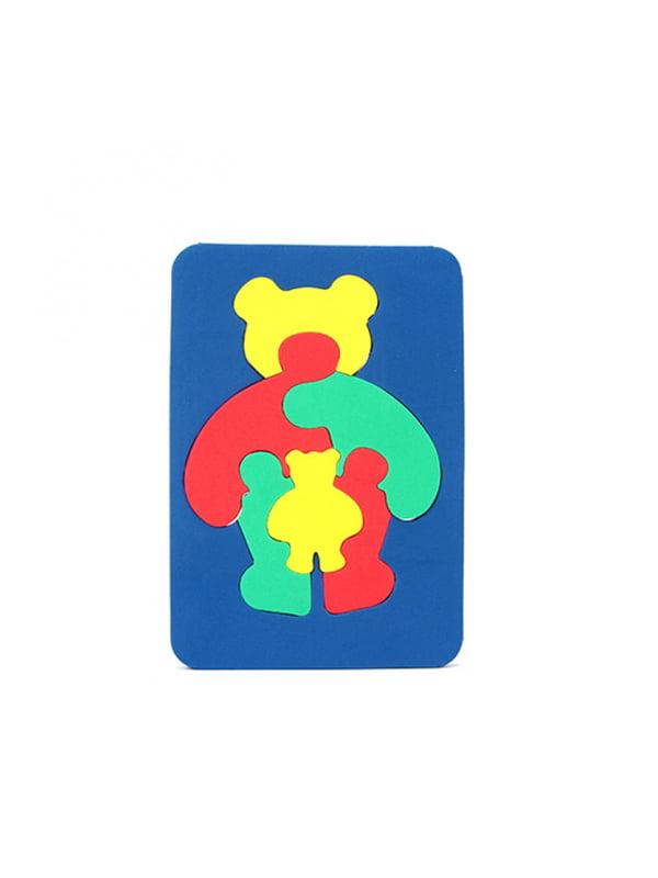 Іграшка рамка-вкладиш мозаїка «Ведмідь» | 4635134