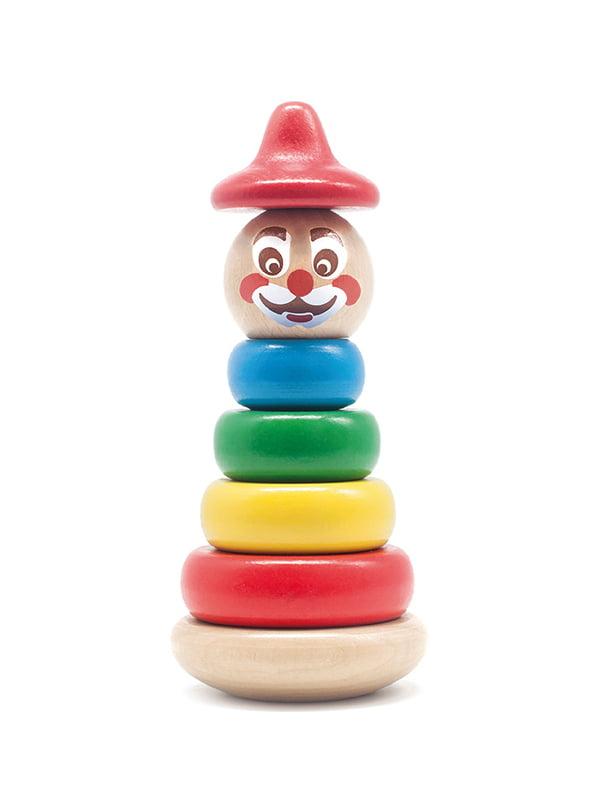 Дерев'яна іграшка «Клоун пірамідка 4» | 4635189