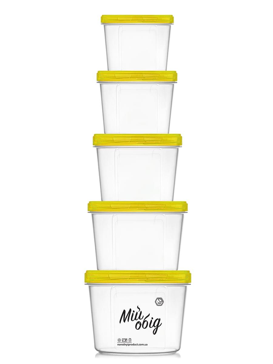 Набор контейнеров (0,2 л, 0,3 л, 0,5 л, 0,7 л и 1 л) | 4635573