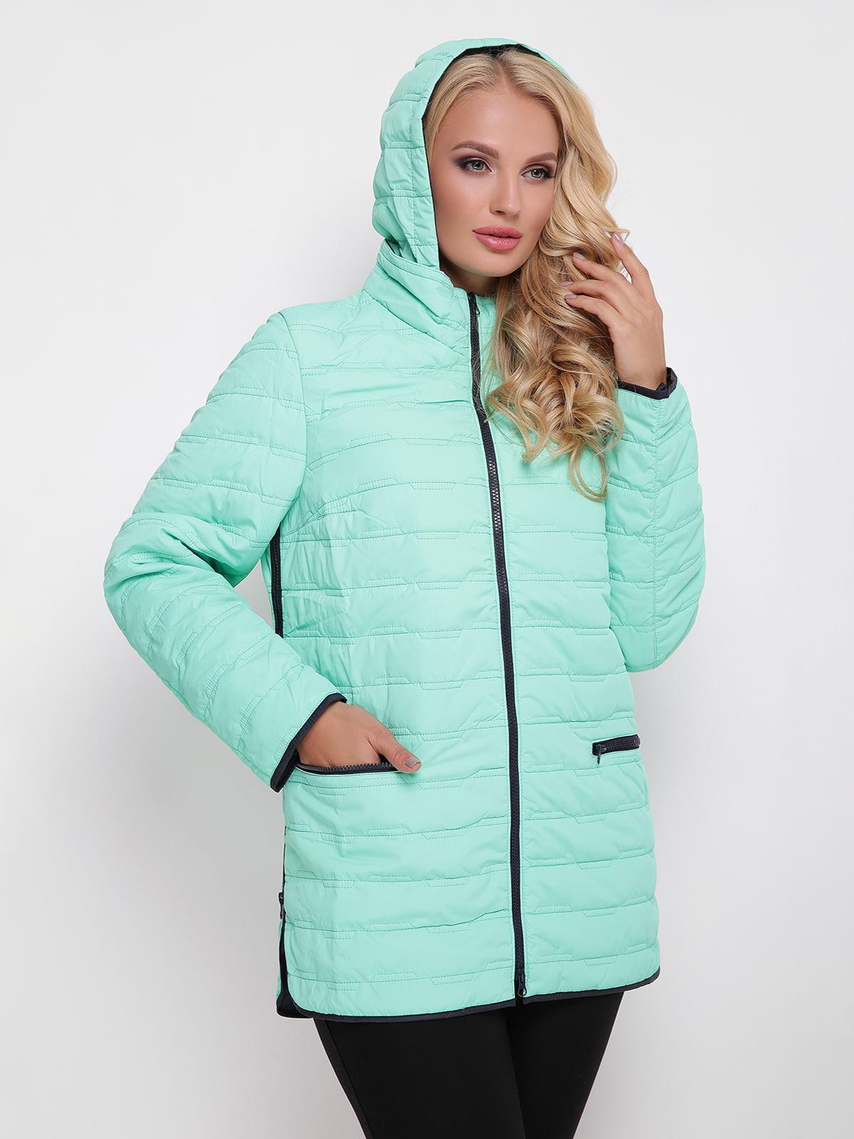 Куртка лазурного кольору | 4636015
