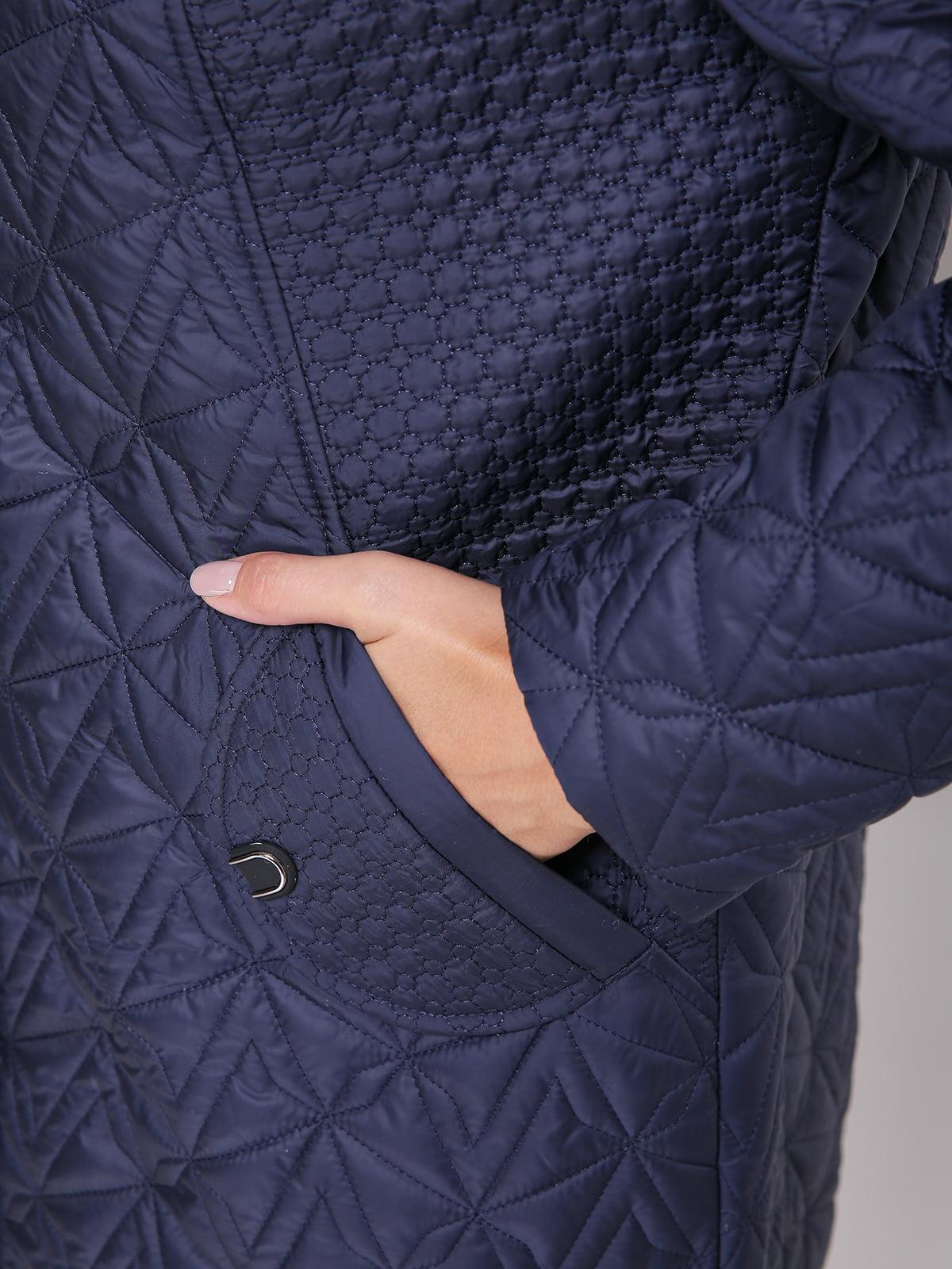 Пальто синее | 4636023 | фото 3