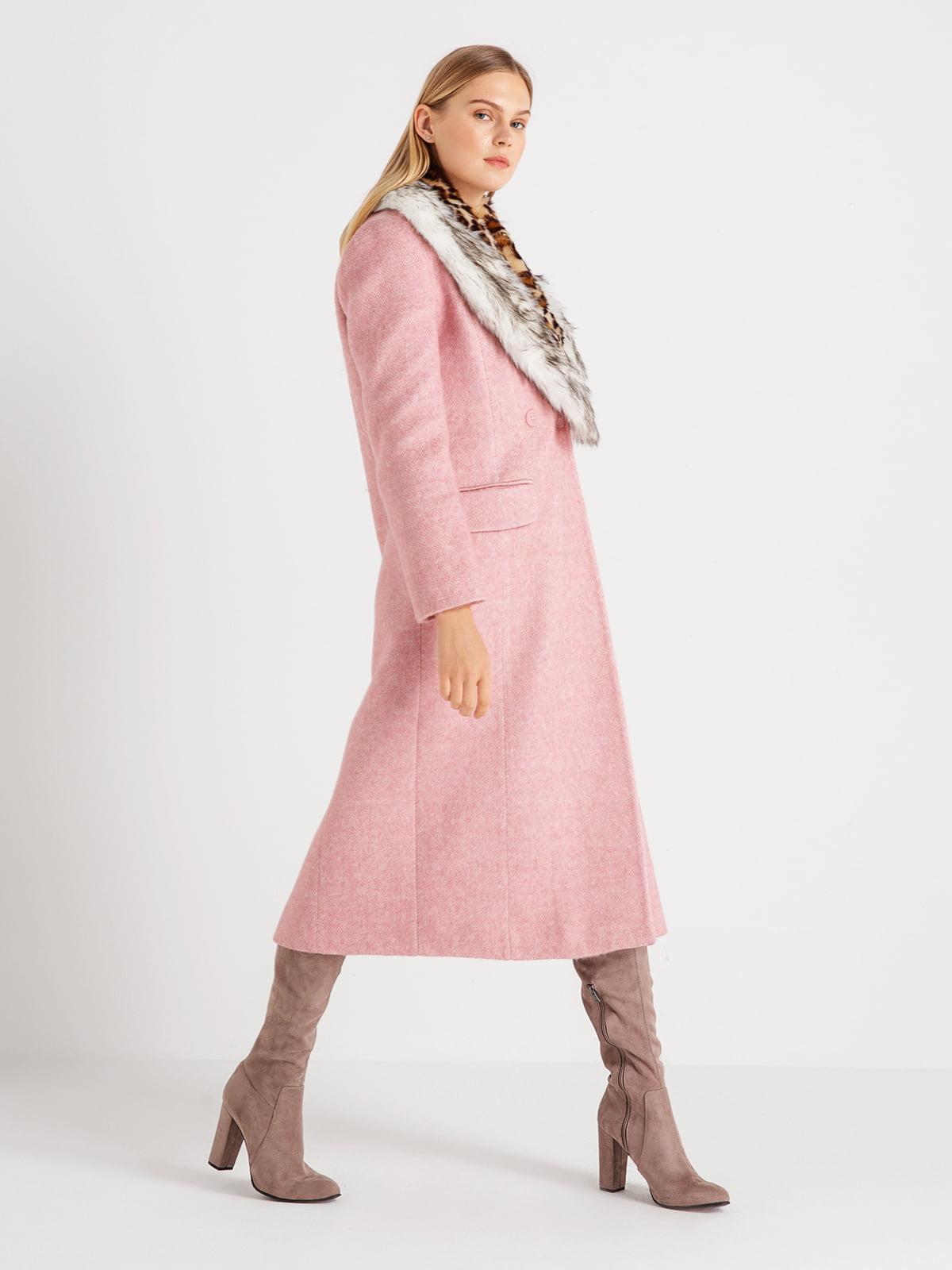 Пальто розовое | 4641960