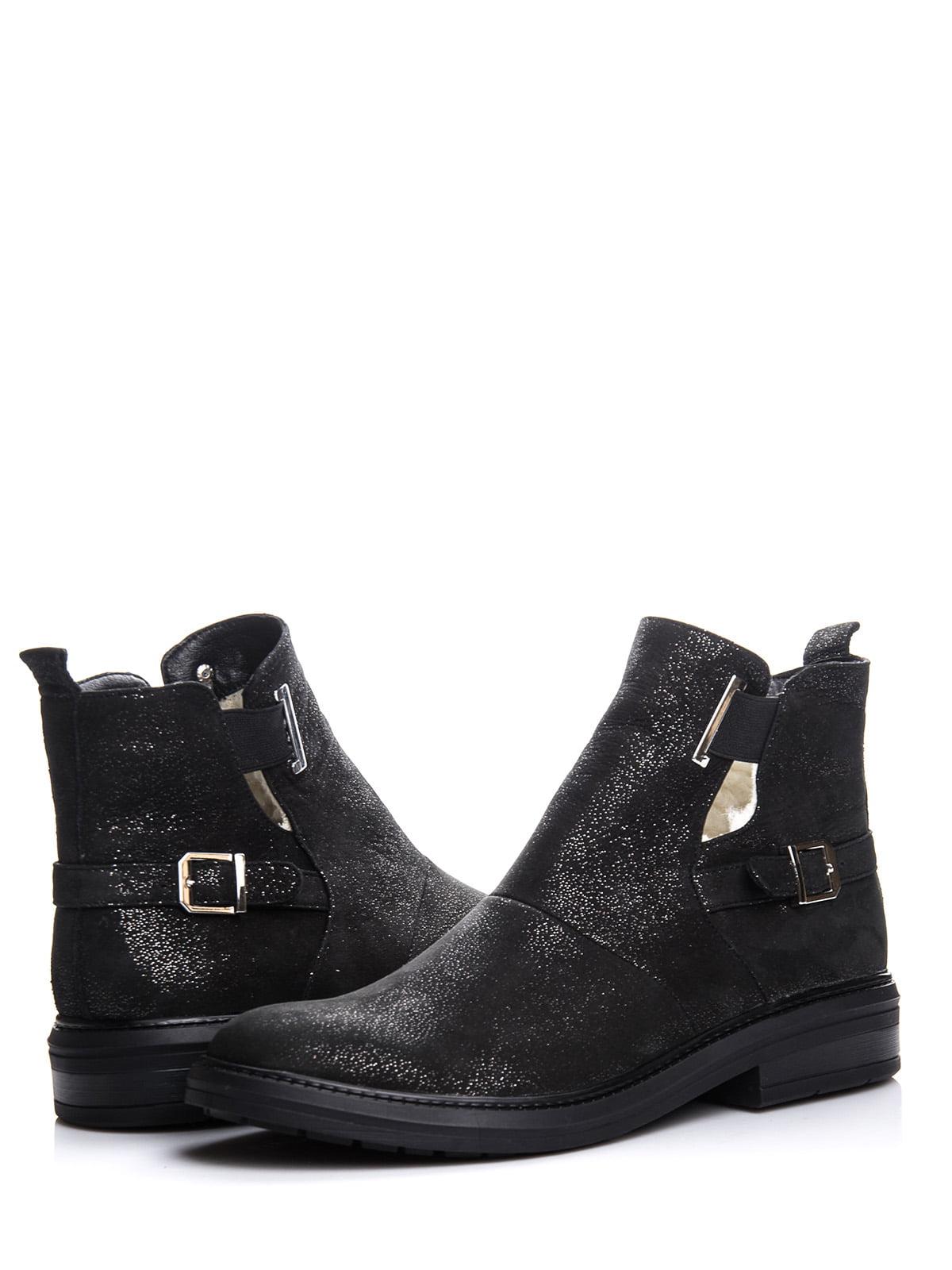 Ботинки черные с блеском | 4643286 | фото 2