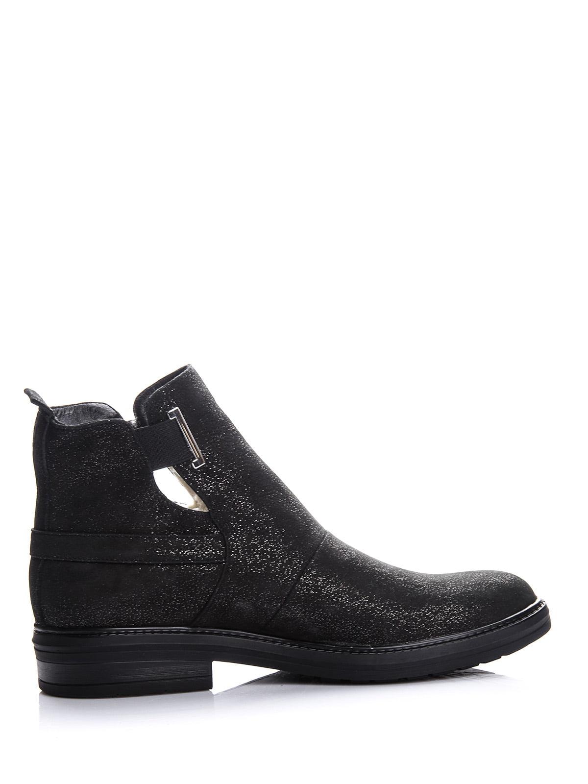 Ботинки черные с блеском | 4643286 | фото 4