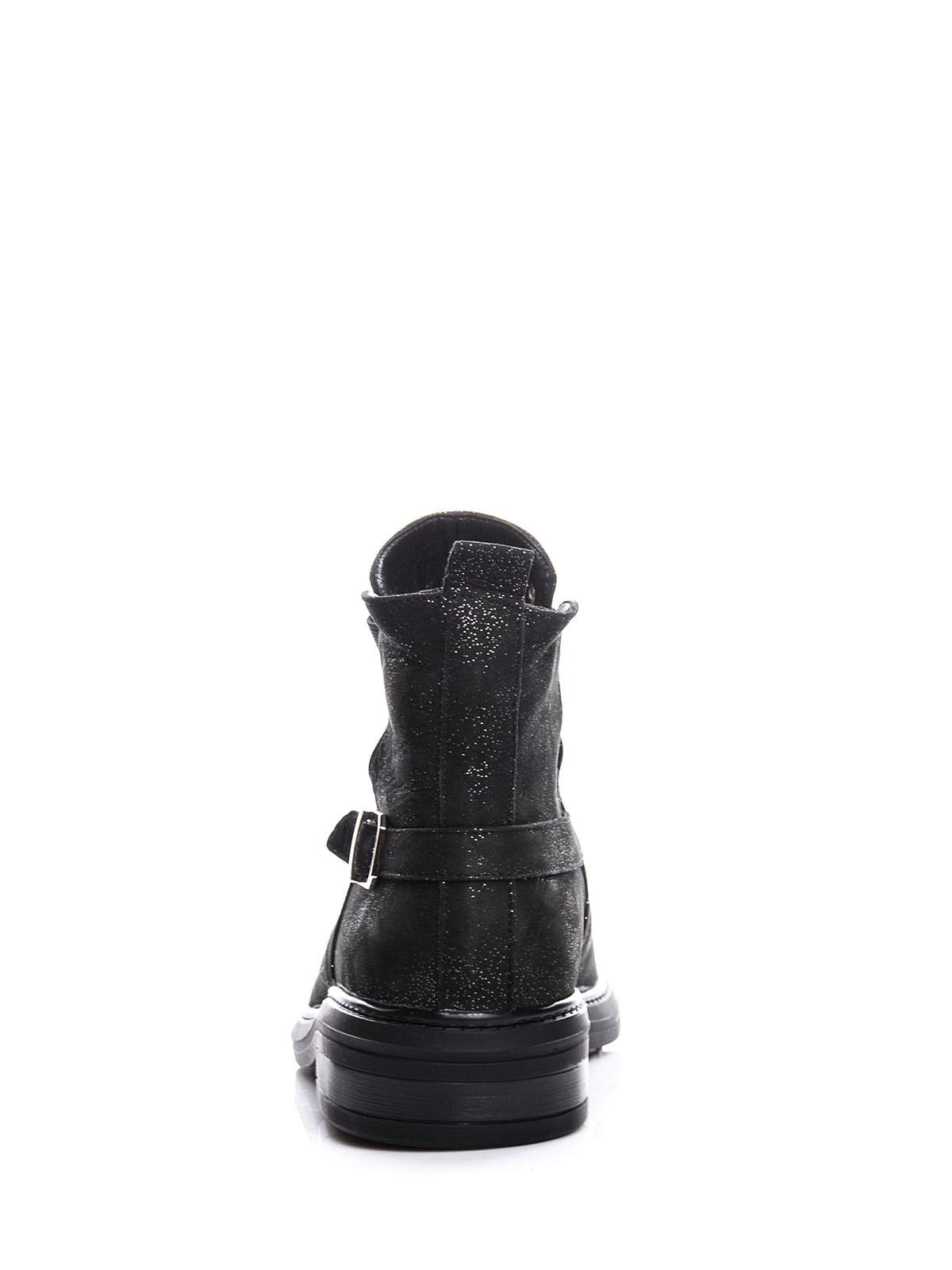 Ботинки черные с блеском | 4643286 | фото 5