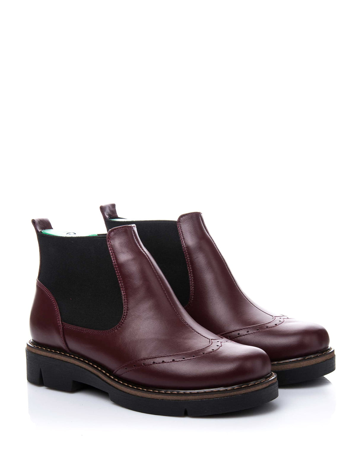 Ботинки бордовые | 3656747