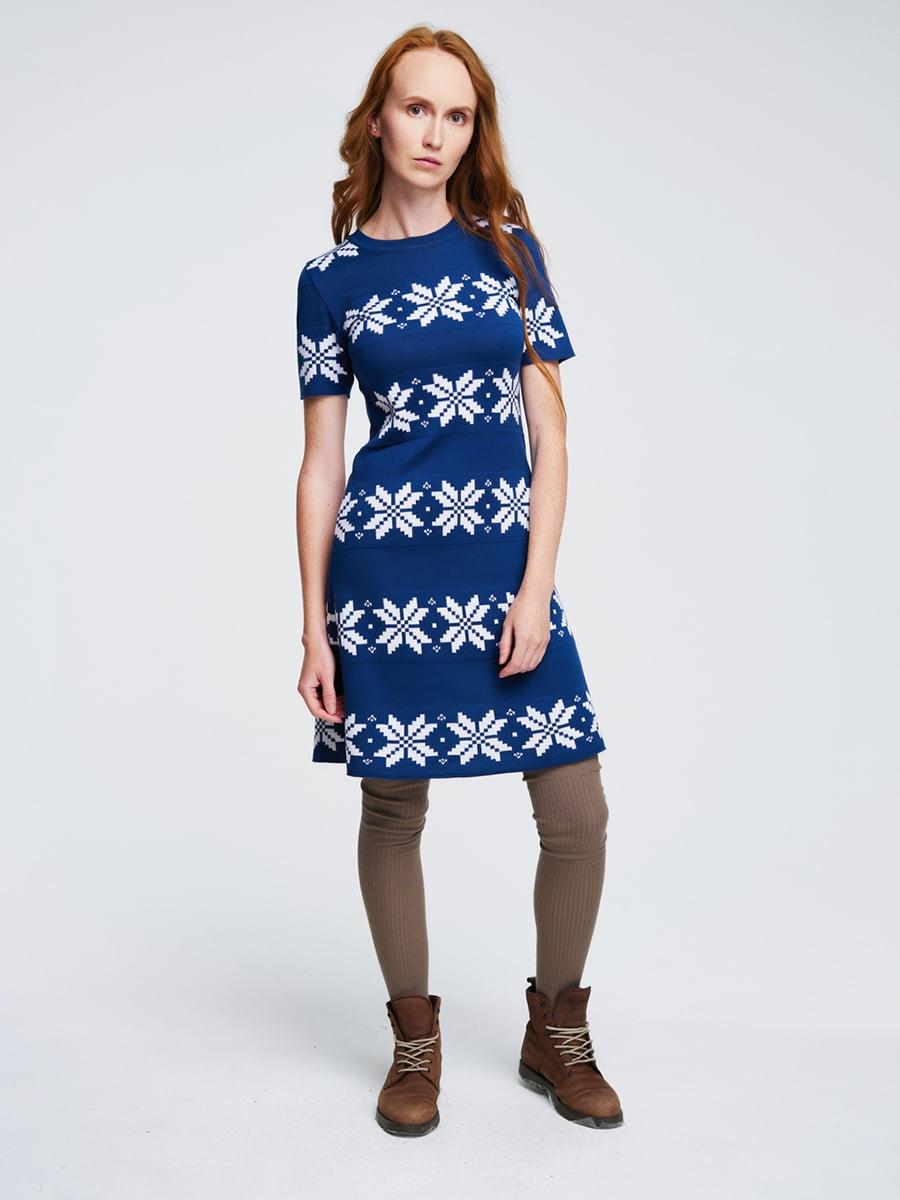 Сукня синя з орнаментом | 4643615