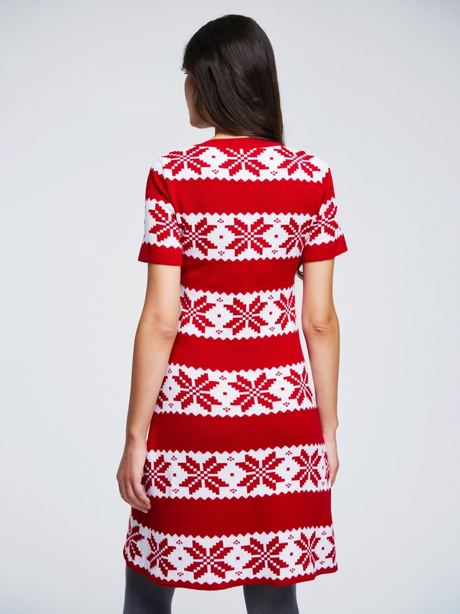 Сукня червона з орнаментом   4643616   фото 2