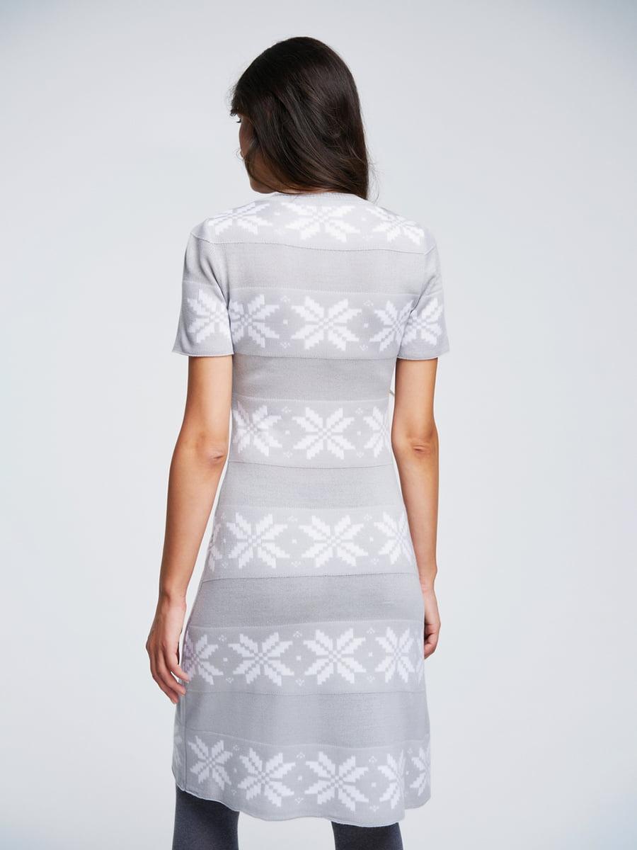 Сукня світло-сіра з орнаментом | 4643617 | фото 3