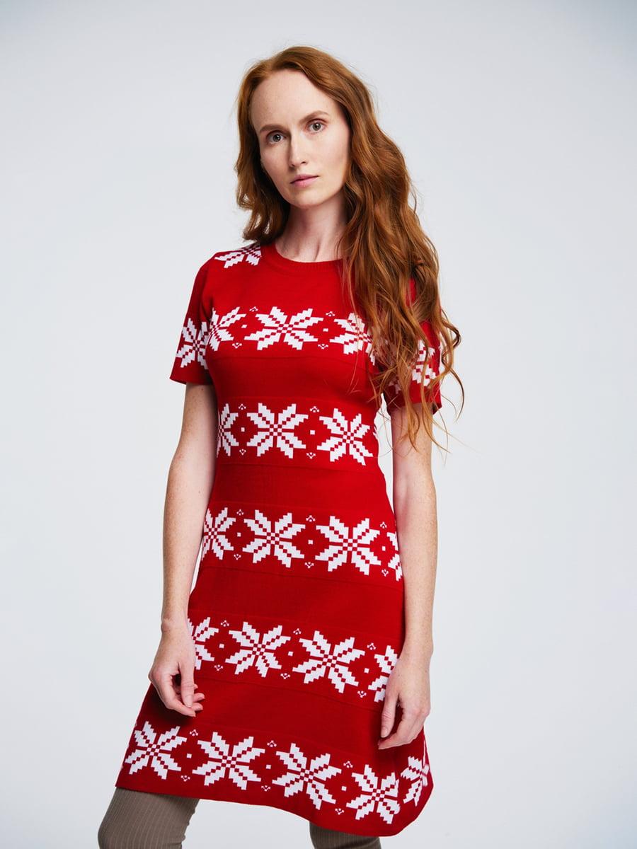 Сукня червона з орнаментом | 4643618 | фото 2