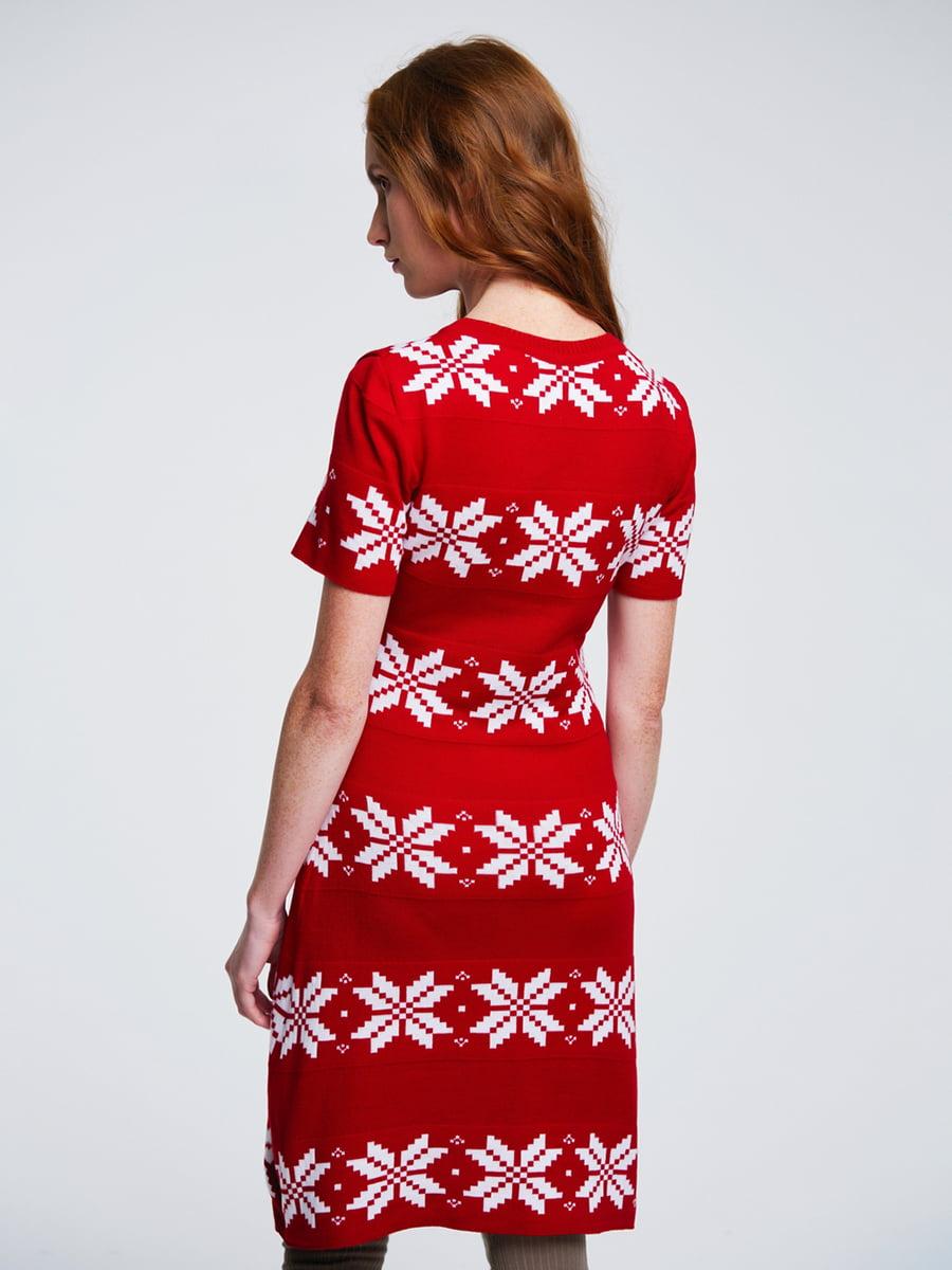 Сукня червона з орнаментом | 4643618 | фото 3