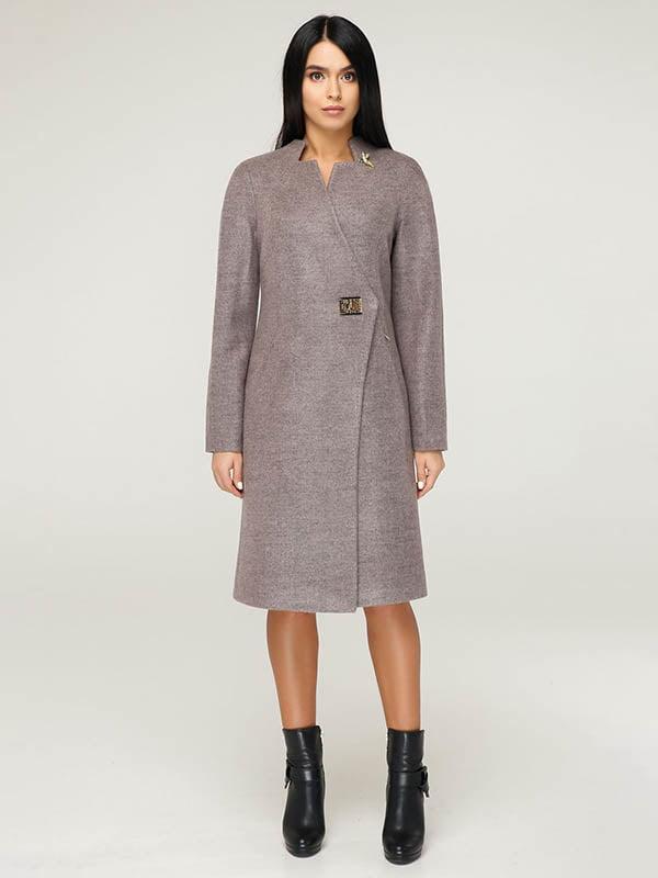 Пальто серо-сиреневого цвета | 4643483