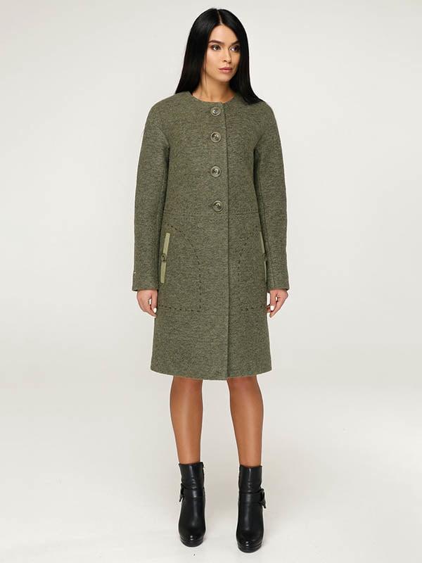 Пальто кольору хакі | 4643492