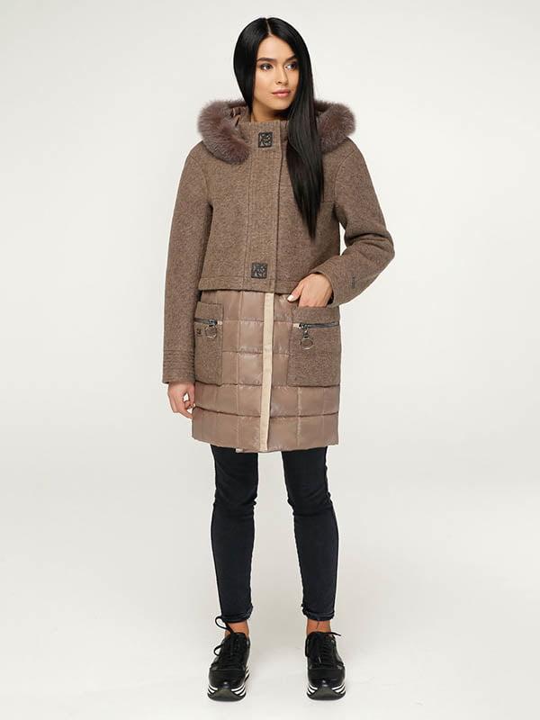 Пальто коричневое | 4643504