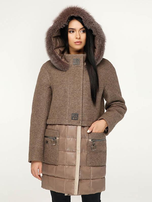 Пальто коричневое   4643504   фото 2