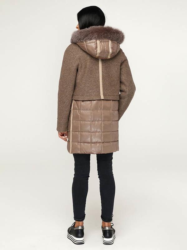 Пальто коричневое   4643504   фото 3