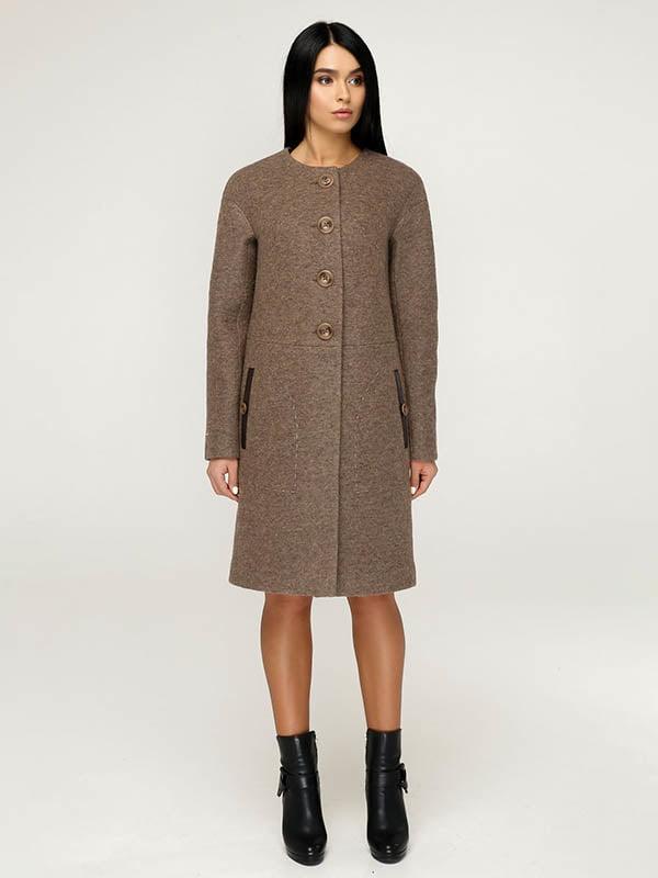 Пальто коричневе | 4643507