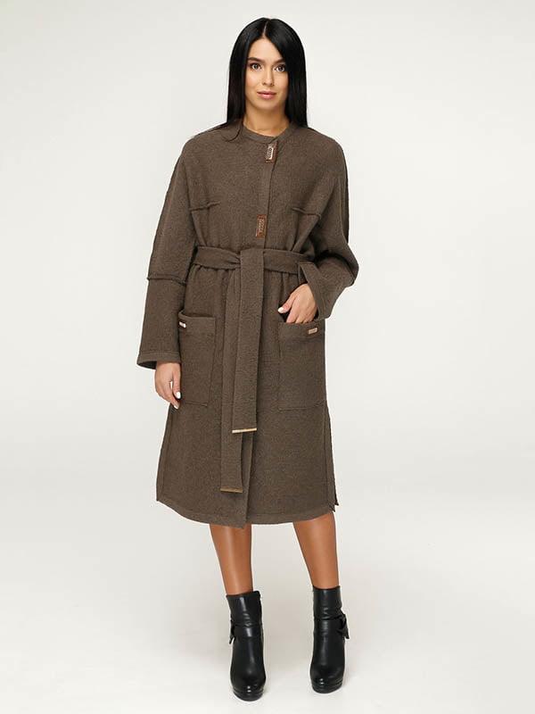 Пальто коричневе | 4643511