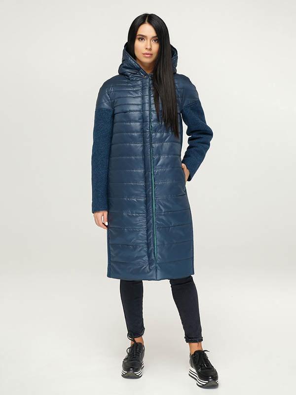 Пальто темно-синє | 4643519