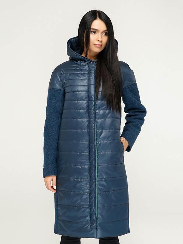 Пальто темно-синее   4643519   фото 2