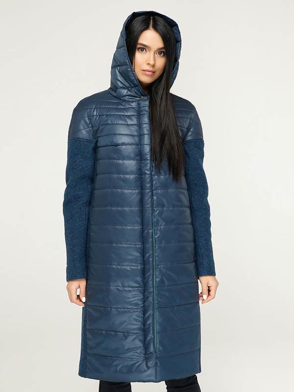 Пальто темно-синее   4643519   фото 3