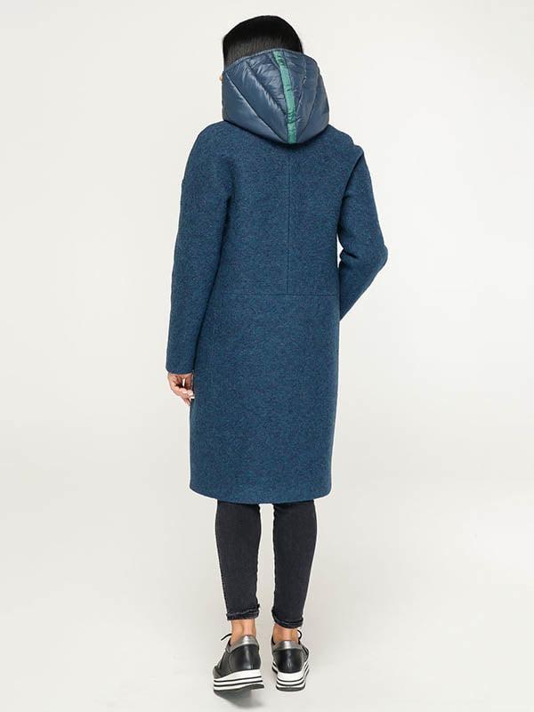 Пальто темно-синее   4643519   фото 4