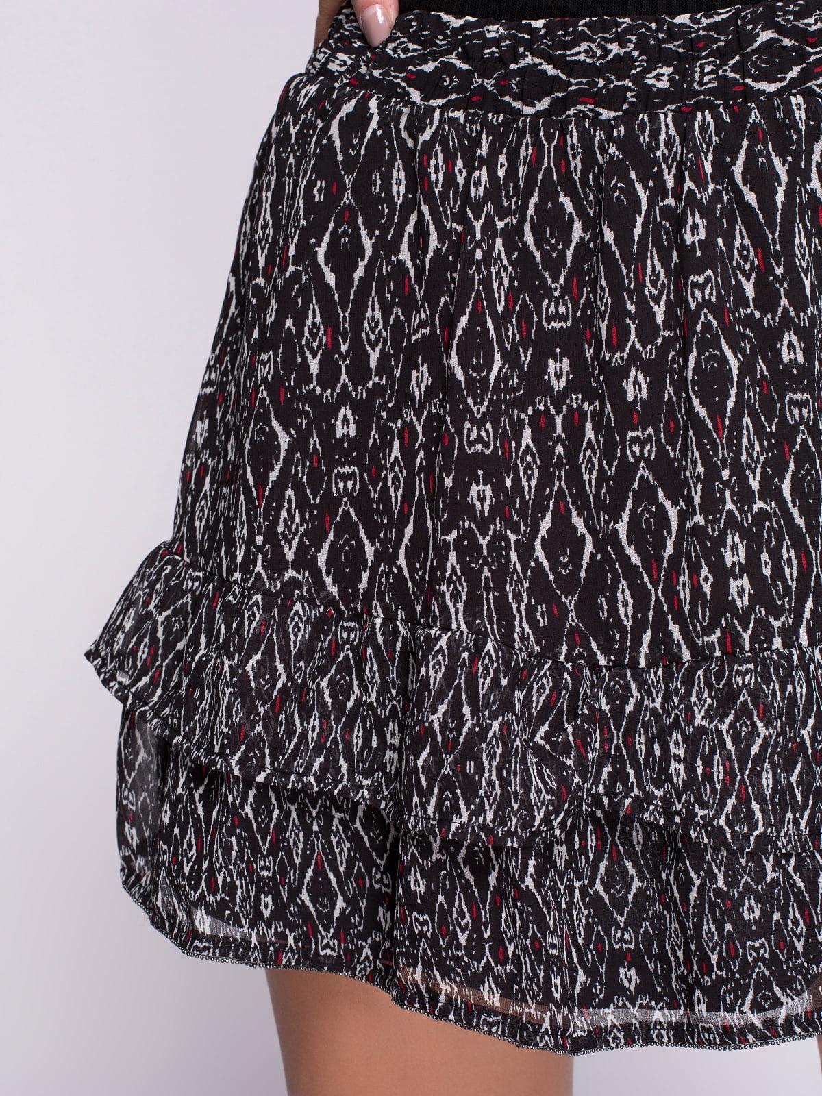 Спідниця чорна в принт | 2711655 | фото 4