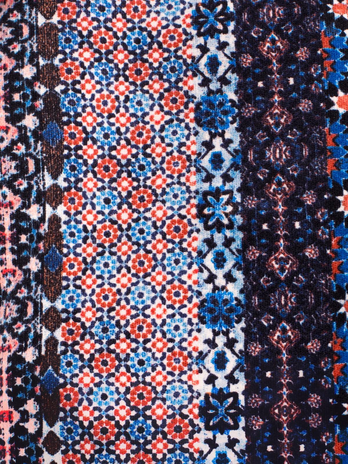 Спідниця синя в принт | 2334573 | фото 4