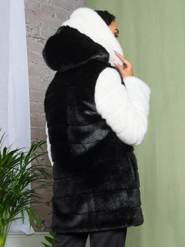 Полушубок черно-белый | 4649385 | фото 2