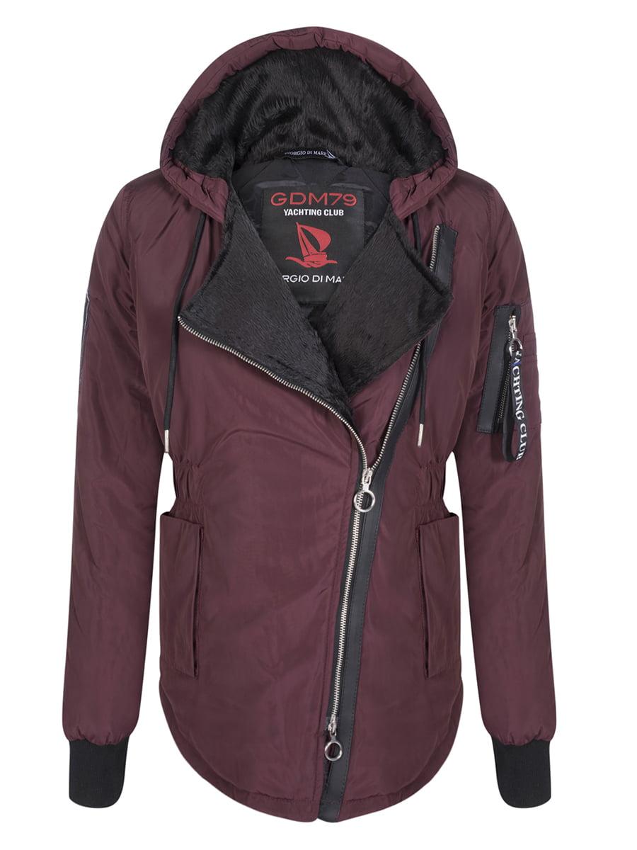 Куртка бордовая | 4592976