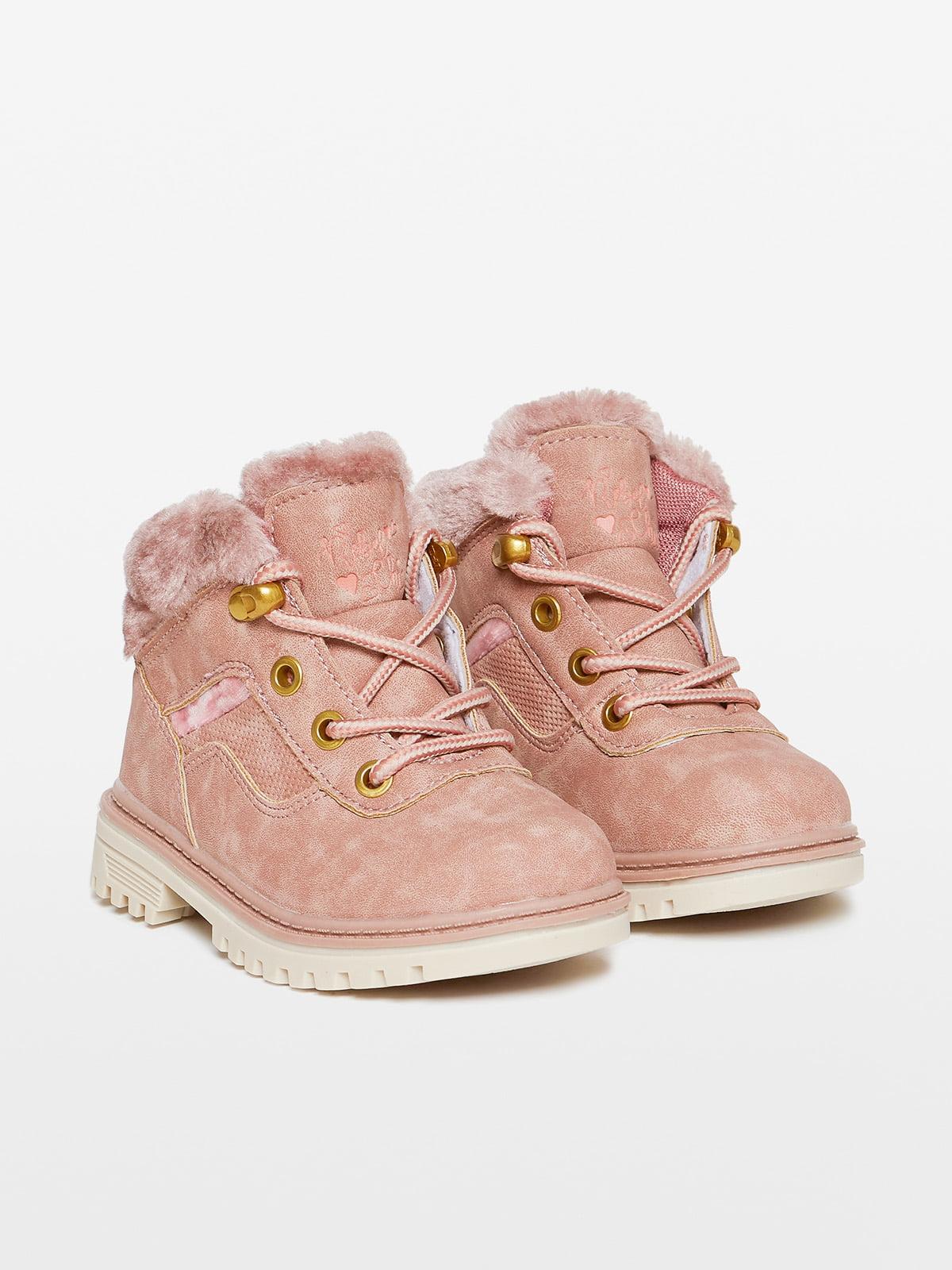 Ботинки розовые | 4649346