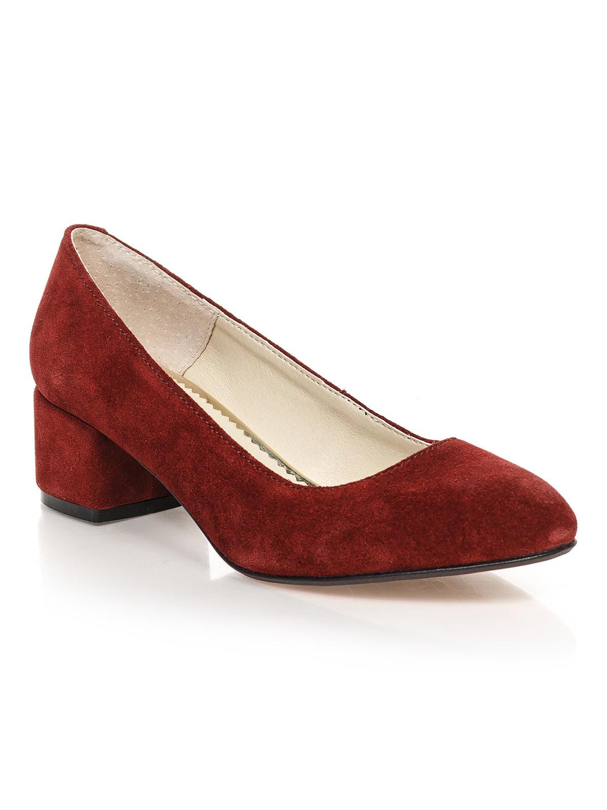 Туфлі бордові | 4590792