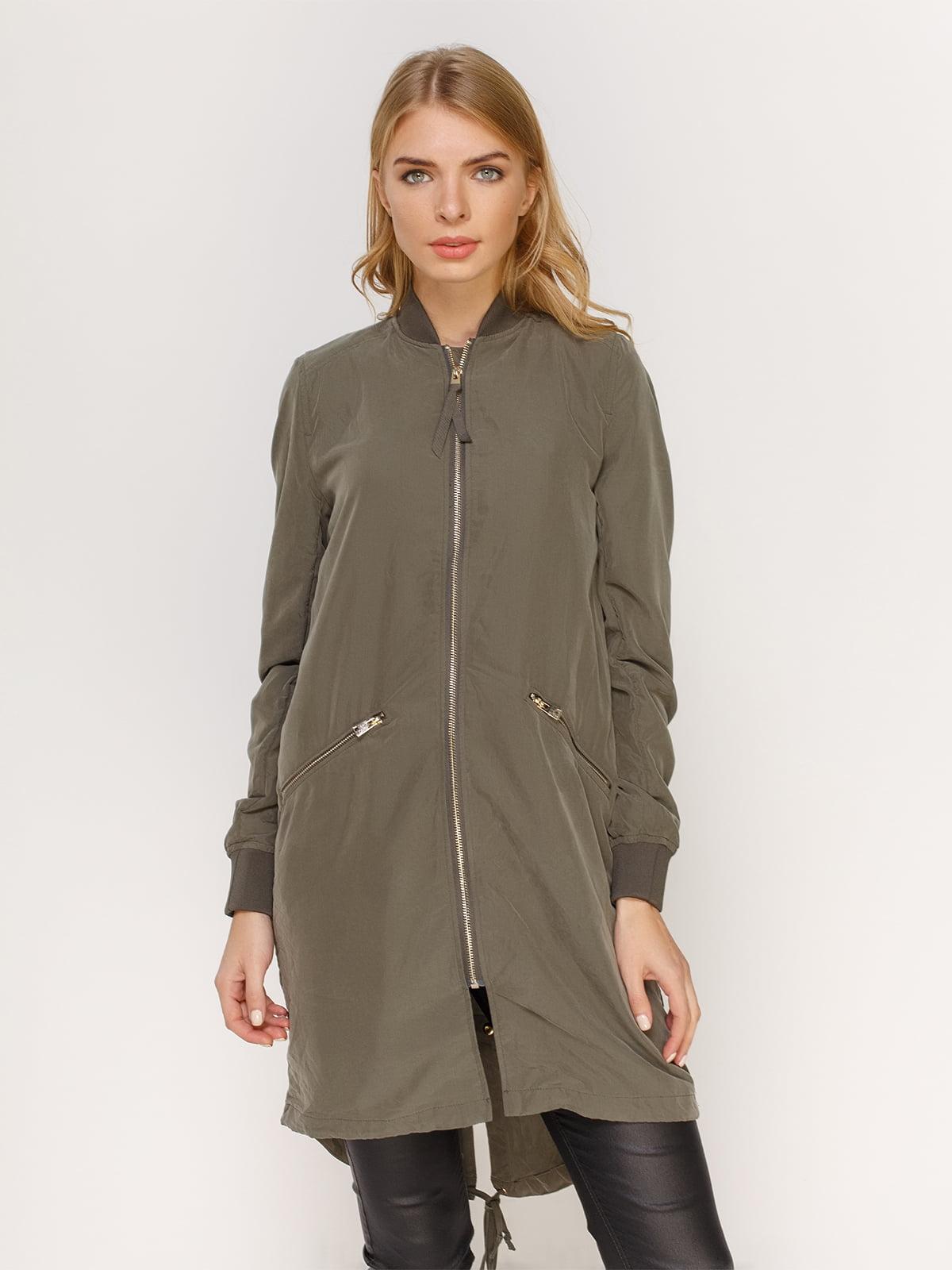 Куртка цвета хаки | 4606000