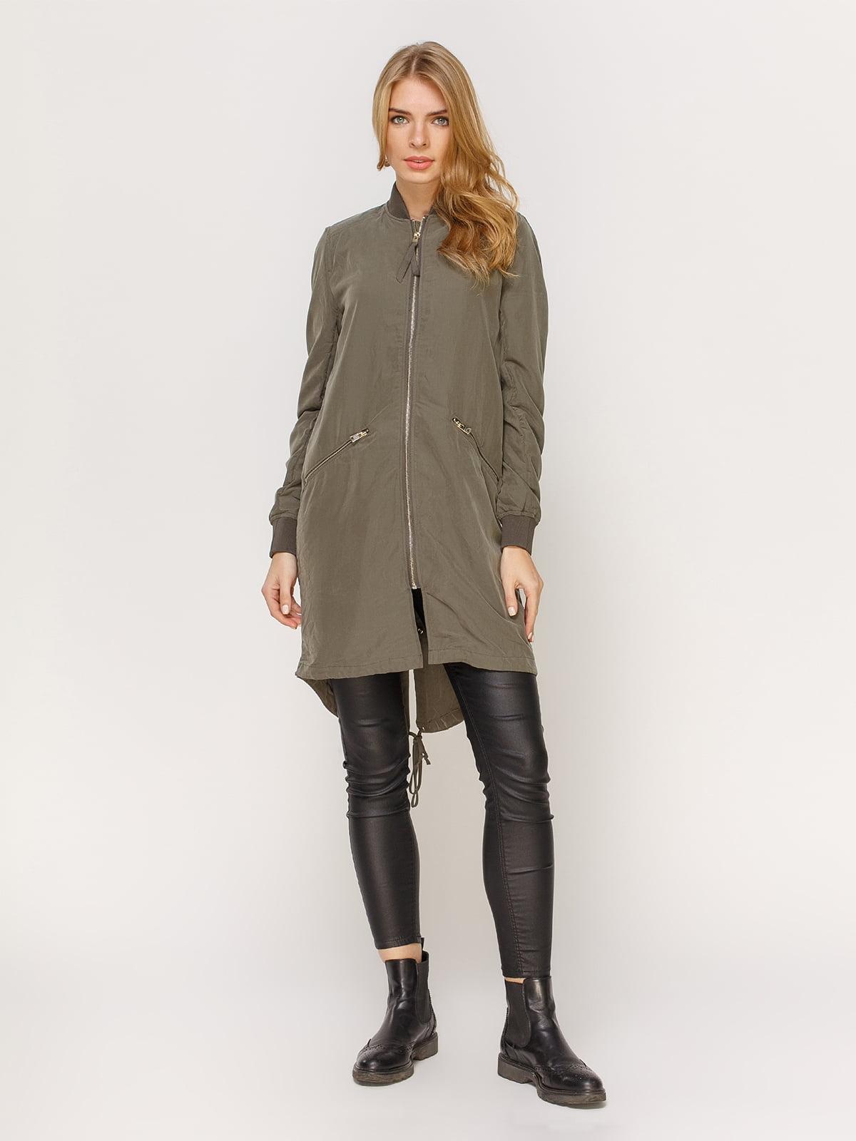 Куртка цвета хаки | 4606000 | фото 2