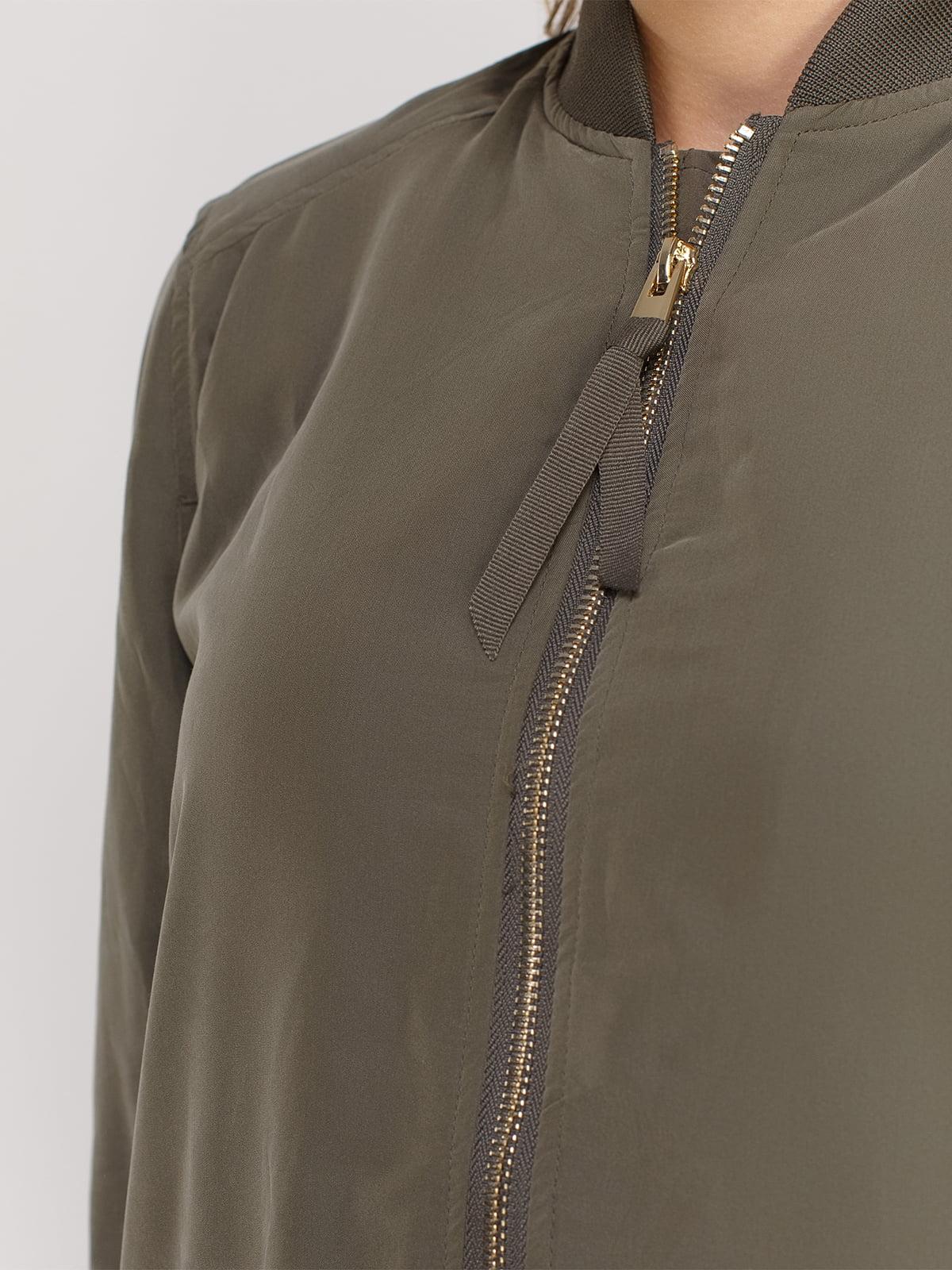 Куртка цвета хаки | 4606000 | фото 4