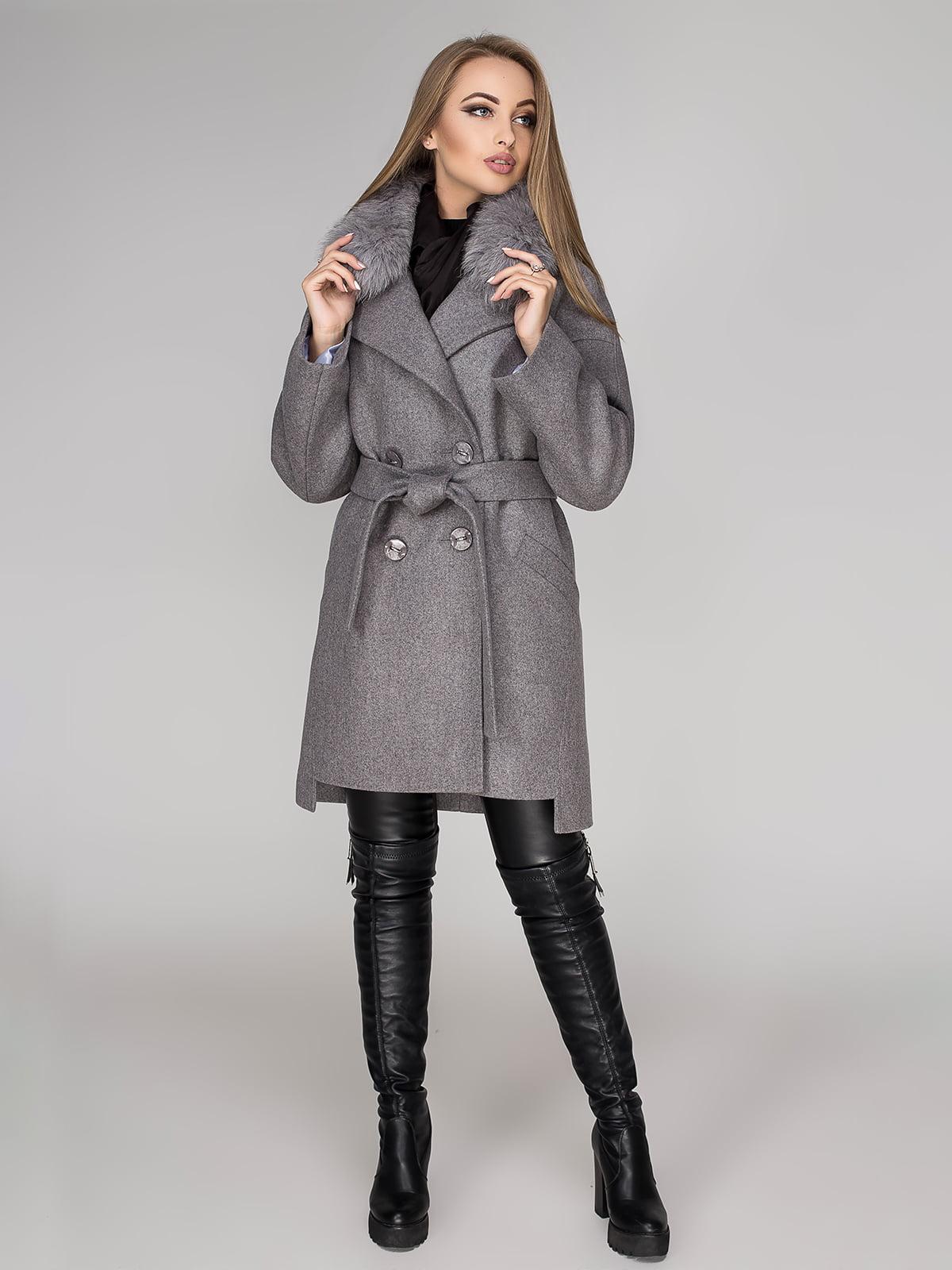Пальто сіре | 4654456