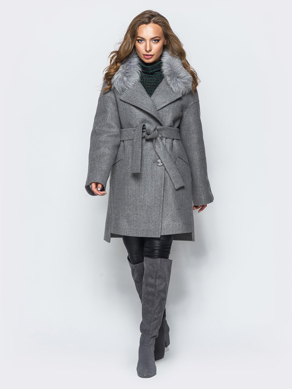 Пальто темно-сіре   4654457
